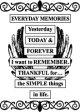 アクリルブロックに貼り付けるラバー・スタンプ(Everyday Memories)