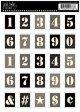 切手型ステッカー (Stencil Numbers)